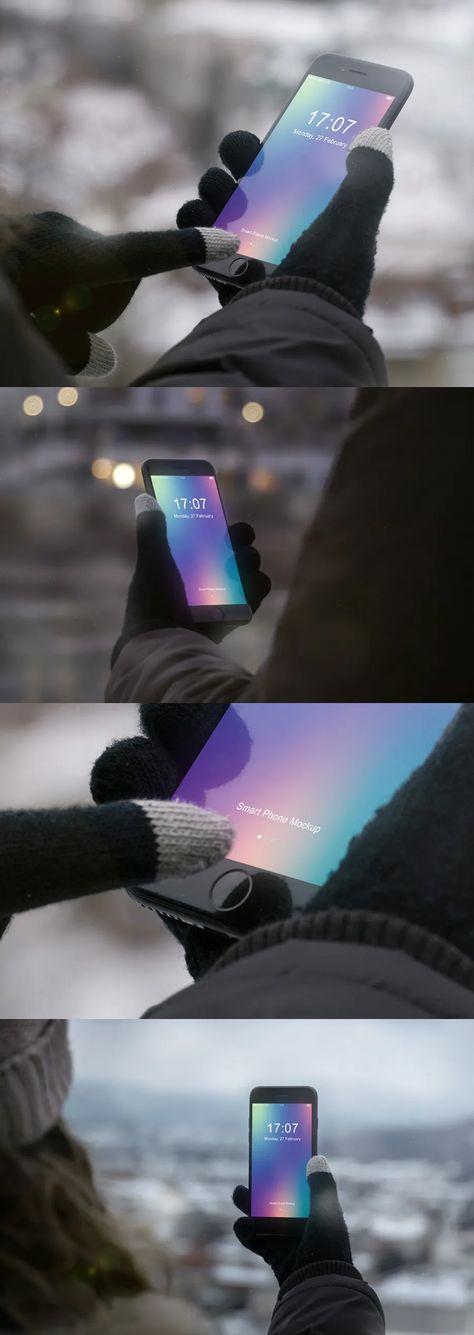 Smart Phone Mockup Winter Edition