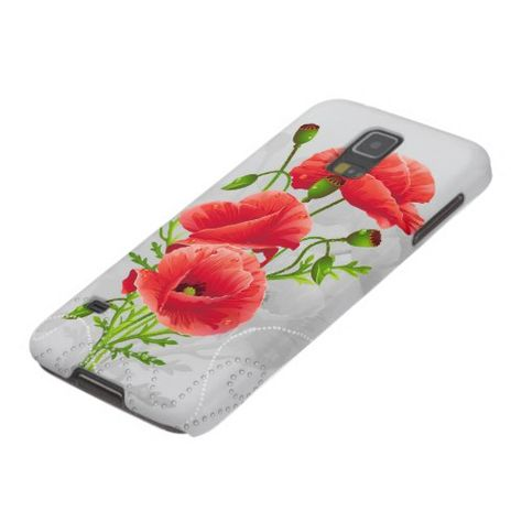 Artistic Red Poppies Samsung Galaxy S5 Case