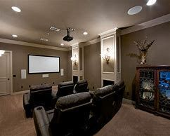 Paint Color Ideas Cool Basement Paint Color Ideas For Any Budget Basement Basementpaintcolor Basementcolor Sala De Cine En Casa Sala De Cine Cine En Casa