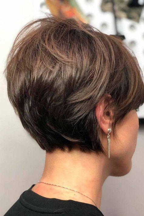 Pixie Haircut For Thick Hair, Short Hairstyles For Thick Hair, Haircuts For Fine Hair, Short Hair With Layers, Short Hair Cuts For Women, Curly Hair Styles, Short Stacked Hair, Cute Pixie Haircuts, Pixie Bob Haircut
