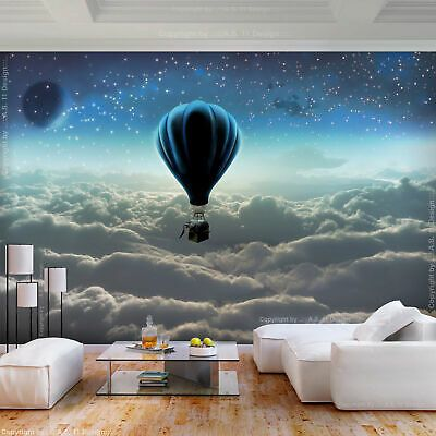 Papier Tapeten Fototapete Sternenhimmel Kinder Zimmer Wandtapete Sterne Mond XXL
