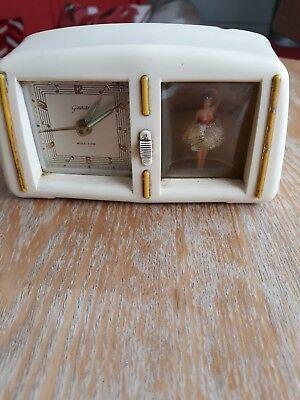 Vintage German Goldbuhl Ballerina Musical Alarm Clock Bakelite In 2020 Unique Alarm Clocks Alarm Clock Vintage Clock