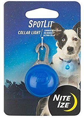 Nite Ize SpotLit Clip-On LED Light with Carabiner Blue Weather Resistant