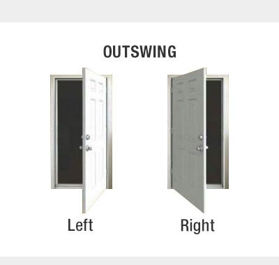 Door Handing Outswing Exterior Doors Doors Front Entry Doors