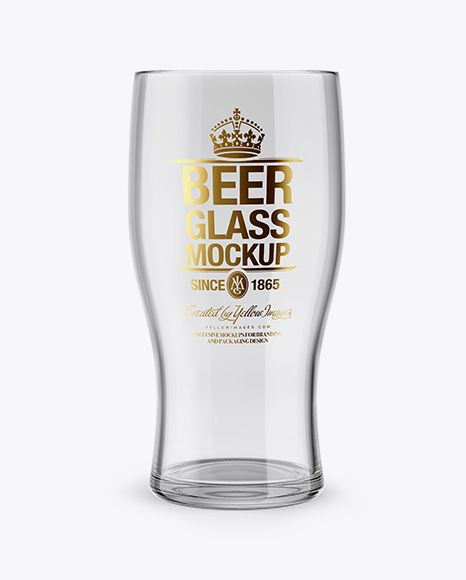 Empty Beer Glass Mockup In Cup Bowl Mockups On Yellow Images Object Mockups Mockup Free Psd Free Packaging Mockup Mockup