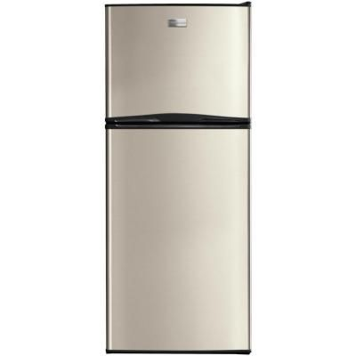 Frigidaire 12 Cu Ft Top Freezer Refrigerator In Silver Mist Fftr1222qm The Home Depot Top Freezer Refrigerator Apartment Size Refrigerator