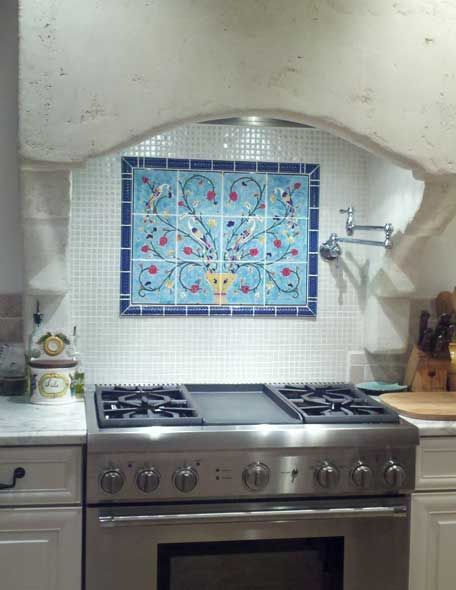Hand Painted Decorative Backsplash Tile Decorative Tile Backsplash Kitchen Tile Mural Decorative Backsplash