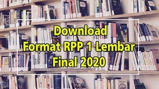 Download Format Rpp 1 Lembar Final 2020 Di 2020 Final Belajar Teknik