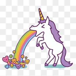 2020 的 Vector Animal Unicorn Cartoon Painting Shape Png And