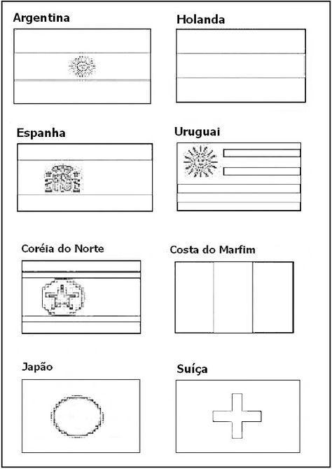 Bandeiras Dos Paises Para Pintar Copa Do Mundo Bandeiras Dos