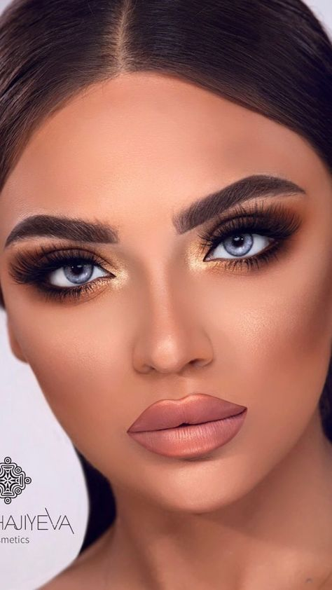 Glam Brown & Gold Makeup Look Tutorial for Fall