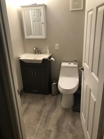 User Submitted Photo Luxury Vinyl Plank Flooring Vinyl Flooring Bathroom Small Bathroom Decor