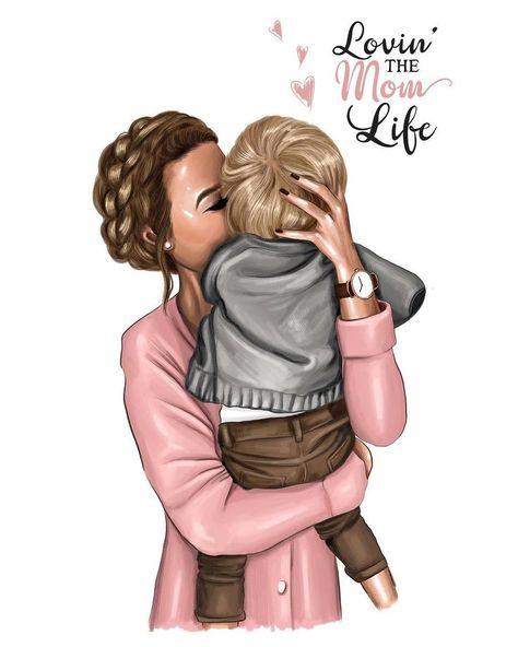 Mom life💕 #momlife #nastyakosyanovaart #нас... - #illustration #Life #mom #momlife #nastyakosyanovaart #нас