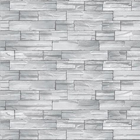 RUSTIC OLD GREY STONE BRICK WALL QUALITY FEATURE DESIGNER WALLPAPER RASCH 265620