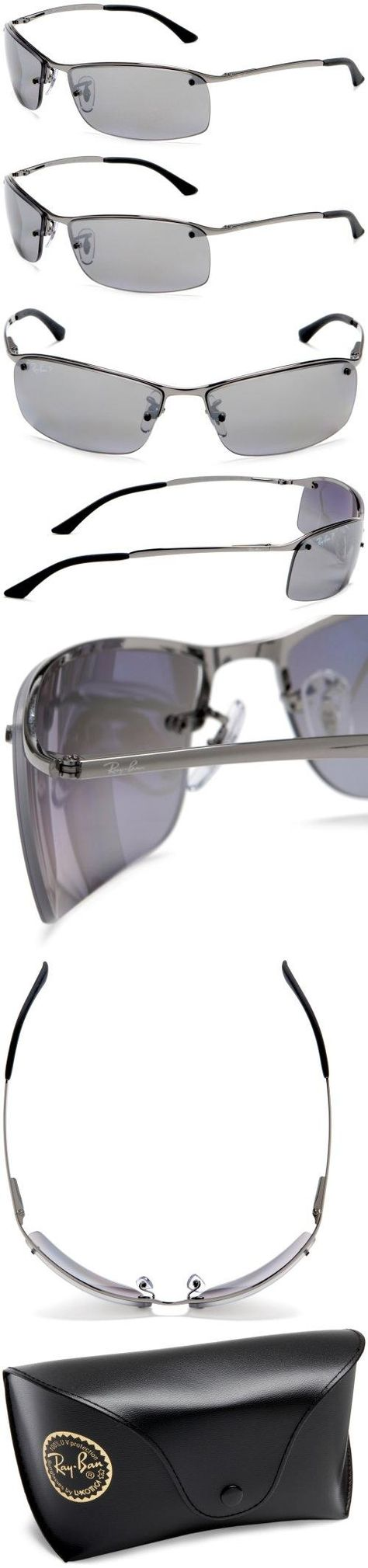 Ray-Ban RB3183 Sunglasses Polarized, Gunmetal/Polarized Smoke // http://www.ray-ban.com/spain/products/sun/RB3183