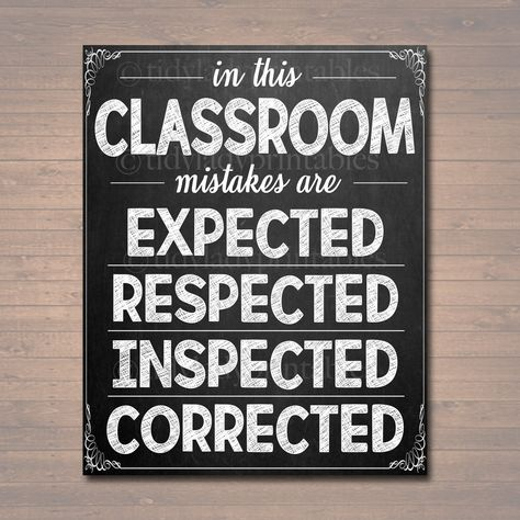 School Classroom Decor - Mistakes Are Proof You're Trying Poster