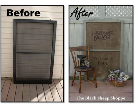 Upcycle an old window screen into a rustic sign and decor Fixer Upper style.