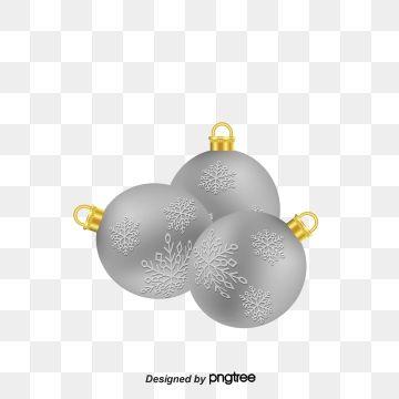 Silver Christmas Ball Png And Vector Christmas Vectors Silver Christmas Christmas Balls