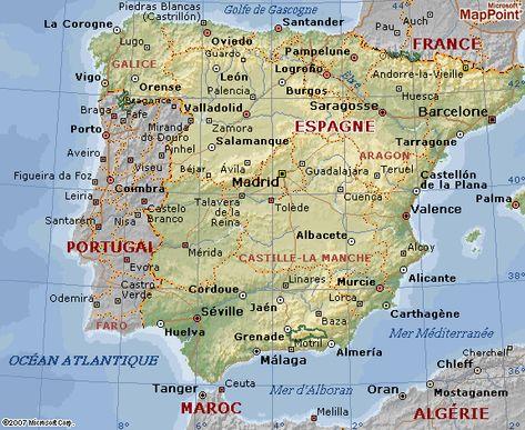 carte géographique de l espagne Carte géographique d'Espagne | Espagne carte, Barcelone carte, Espagne