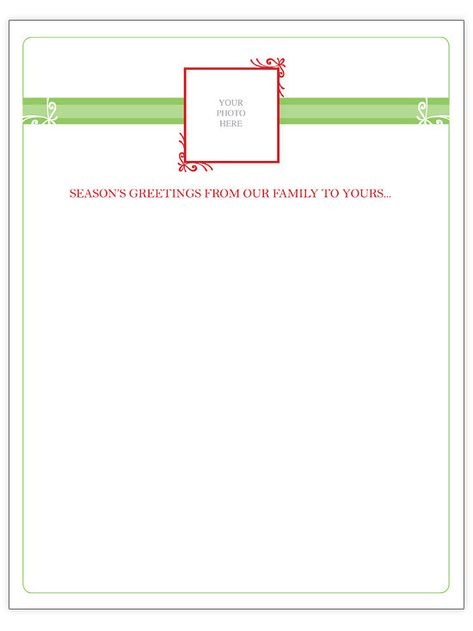 Free Christmas Letter Templates - free christmas letter templates