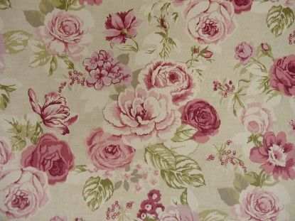 Clarke and Clarke Nancy Rose Designer Curtain Upholstery Fabric