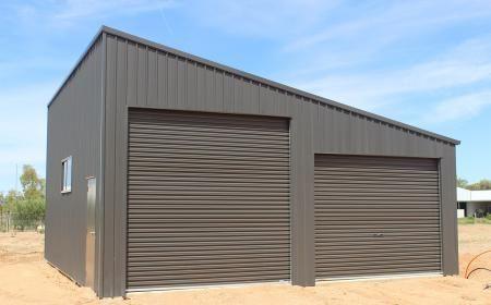 Large Double Skillion Garage Garage Door Design Garage Design Garage