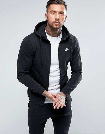 bca89af97 Nike Club zip-up hoodie in black 804389-010 | Wardrobe Reset | Nike ...