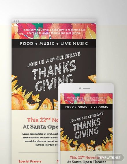 Free Thanksgiving Email Template In 2020 Email Newsletter Template Design Email Newsletter Template Email Templates