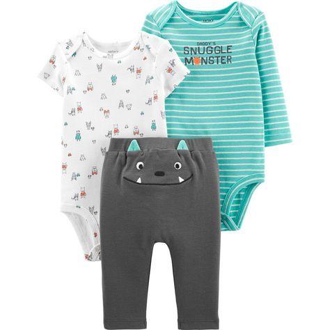 Carters Newborn 3 6 Months Bodysuit /& Pants Set Baby Boy Clothes Blue