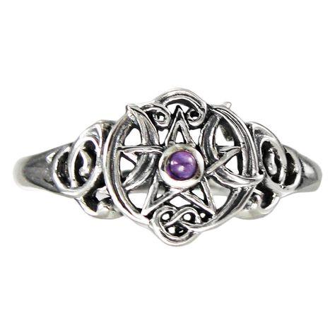Sterling Silver Butterfly Pentacle Pentagram Earring Studs Dryad Design Wiccan