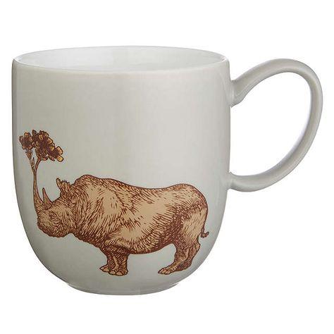 BuyAvenida Home Puddin' Head Rhino Mug, Grey Online at johnlewis.com