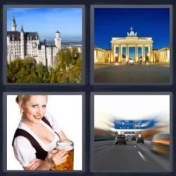 Respuesta Cuatro Fotos Una Palabra 8 Letras Carretera Castillo Cerveza Ciudad 4 Fotos 1 Palabra Fotos Palabras