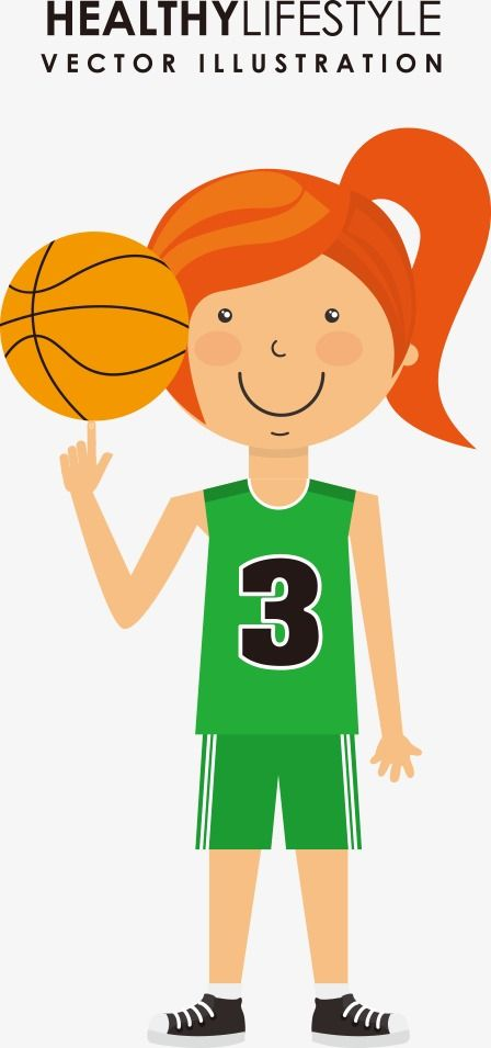 Vector Girls Basketball Con Imagenes Baloncesto Dibujos