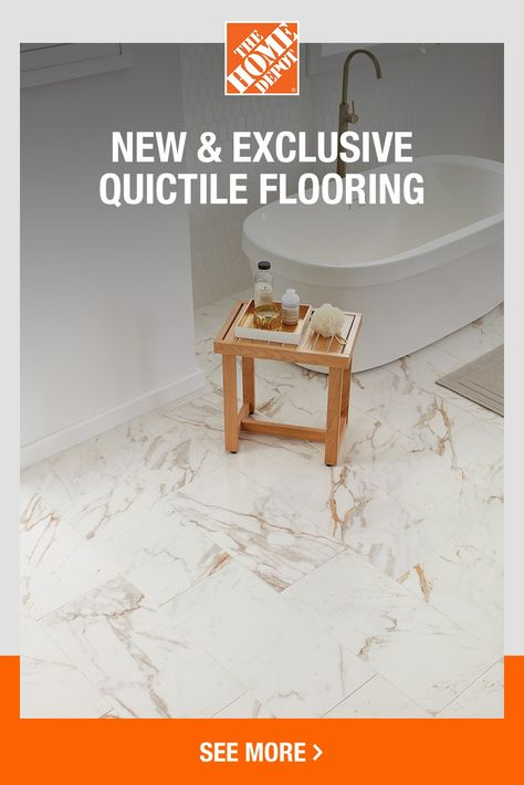 QuicTile flooring is beautiful, stylish and easy to install yourself. The tiles are durable and made to last year after year. Find your perfect look with QuicTile. Click to shop now at The Home Depot.
