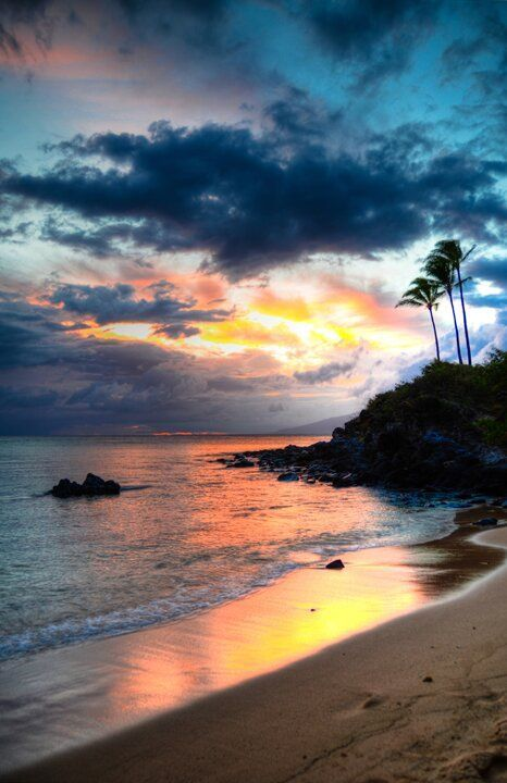 Kapalua Maui Sunset Hawaiian Islands By Kelly Wade Photographic Print On Wrapped Canvas In 2021 Beach Sunset Wallpaper Sunset Landscape Sunset Nature