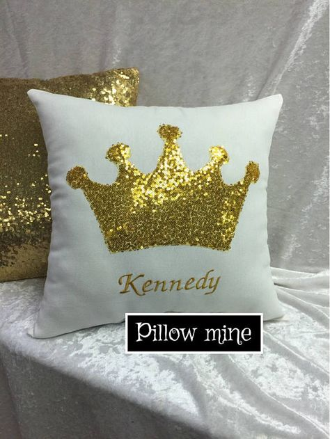 Personalized Crown Decor pillow Girl