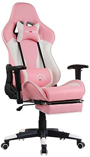 Acmate Girl Gaming Chair Massage Gaming Computer Chair With Footrest Reclining Home Office Chair Racing Style Gamer Lapcity In 2020 Gamer Chair Gaming Chair Gaming Desk Chair