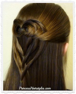 Triple Tuck Heart Hairstyle For Valentines Day
