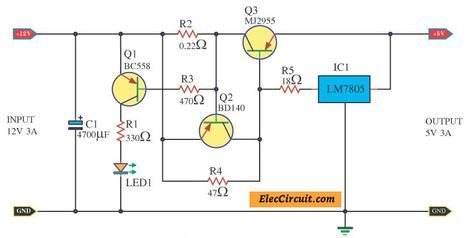 12v To 5v Converter Step Down Dc Regulator In Many Ways To Do Electronic Circuit Projects Converter Electronic Schematics