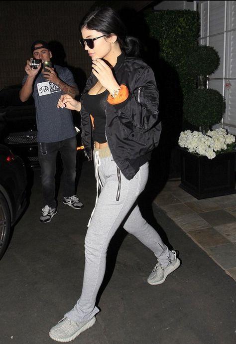 Kylie Jenner Wears Fear Of God Drawstring Pants, Alpha