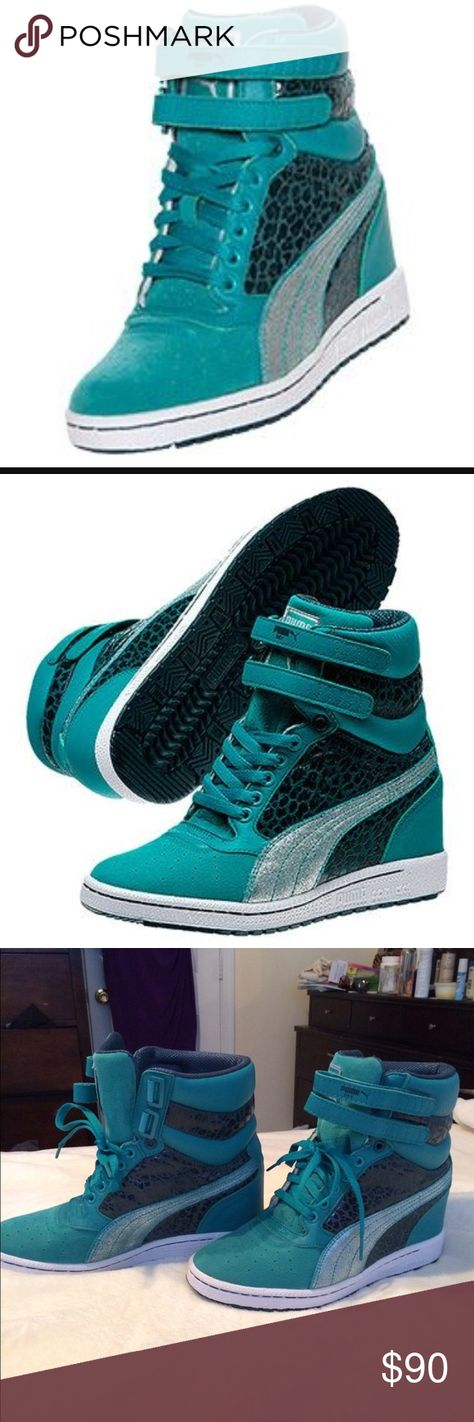 59735f94b441 Puma Women s Sky Hi Basketball Shoes Sz 9 Puma Women s Sky Hi Basketball  Shoes! These sneakers feature suede upper with an iridescent treatment and  perf ...