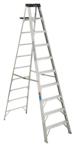 Cheap Werner 310 300 Pound Duty Rating Aluminum Stepladder 10 Foot Step Ladders Ladder Aluminium Ladder