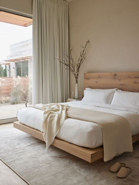 """Set on three woodland acres bordering the Parrish Art Museum in Water Mill, Shou Sugi Ban House is an understated but luxe """"holistic healing retreat #bedroom #homedecor #dreamhome"""
