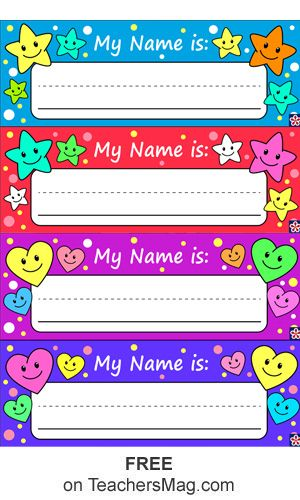 Free Printable Name Tags For Preschoolers Kindergarten Name Tags Preschool Name Tags Preschool Names