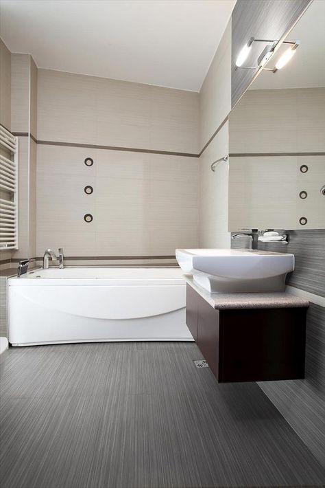 BuildDirect – Porcelain Wall Tile - Moderna Collection – Gray Olive - Bathroom View