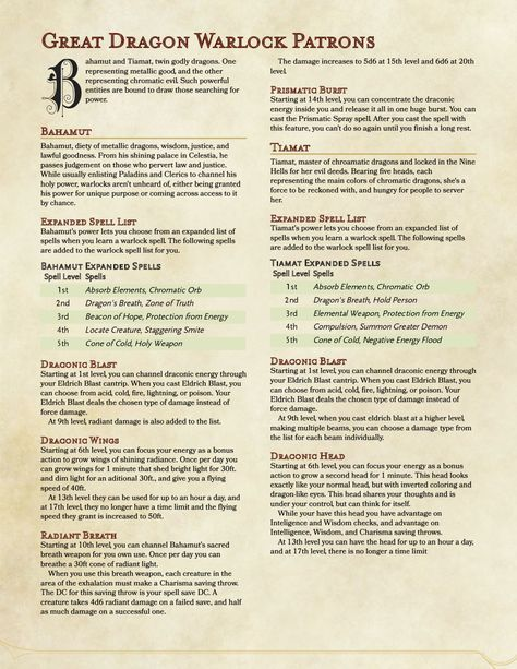 D D 5e Homebrewing I M Back From Vacation And Have New Patrons For Warlock Dnd Home Brewing Dnd Classes They will attack the nearest creature to which. www pinterest ph