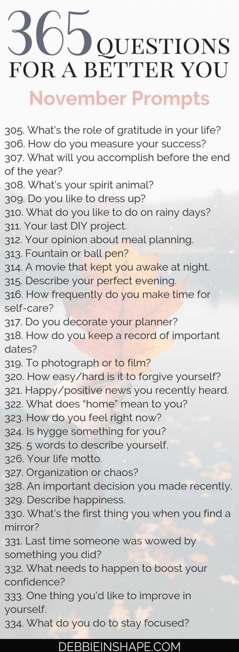 365 Questions For A Better You: the November Edition - Debbie Rodrigues