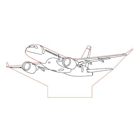 Bombardier C Serie 3d Illusion Lamp Plan Vector File For Laser And Cnc 3bee Studio 3d Illusions 3d Illusion Lamp Illusions