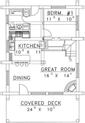 Main Floor Plan 34 150 House Plan With Loft Cabin House Plans Floor Plans