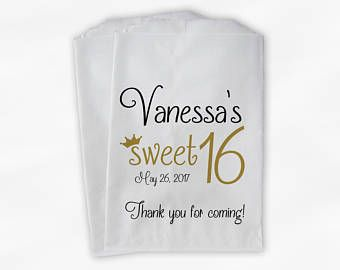 Birthday Personalized Candy Buffet Bags